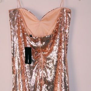 Champagne Sequin Fringe Dress